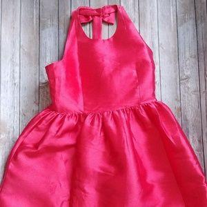 Kate Spade Bow Back Fit & Flare Pink Mini Dress 14